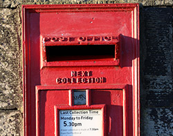 british red postbox