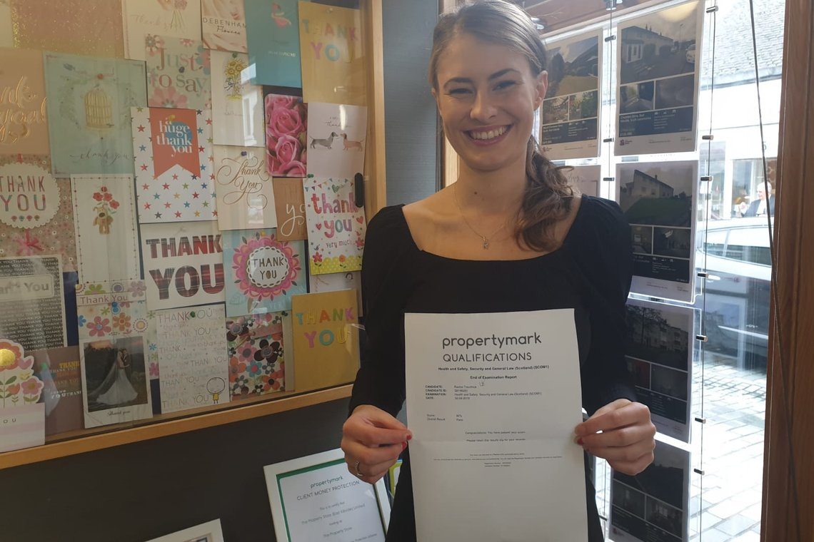 Rachel has passed another exam this morning!