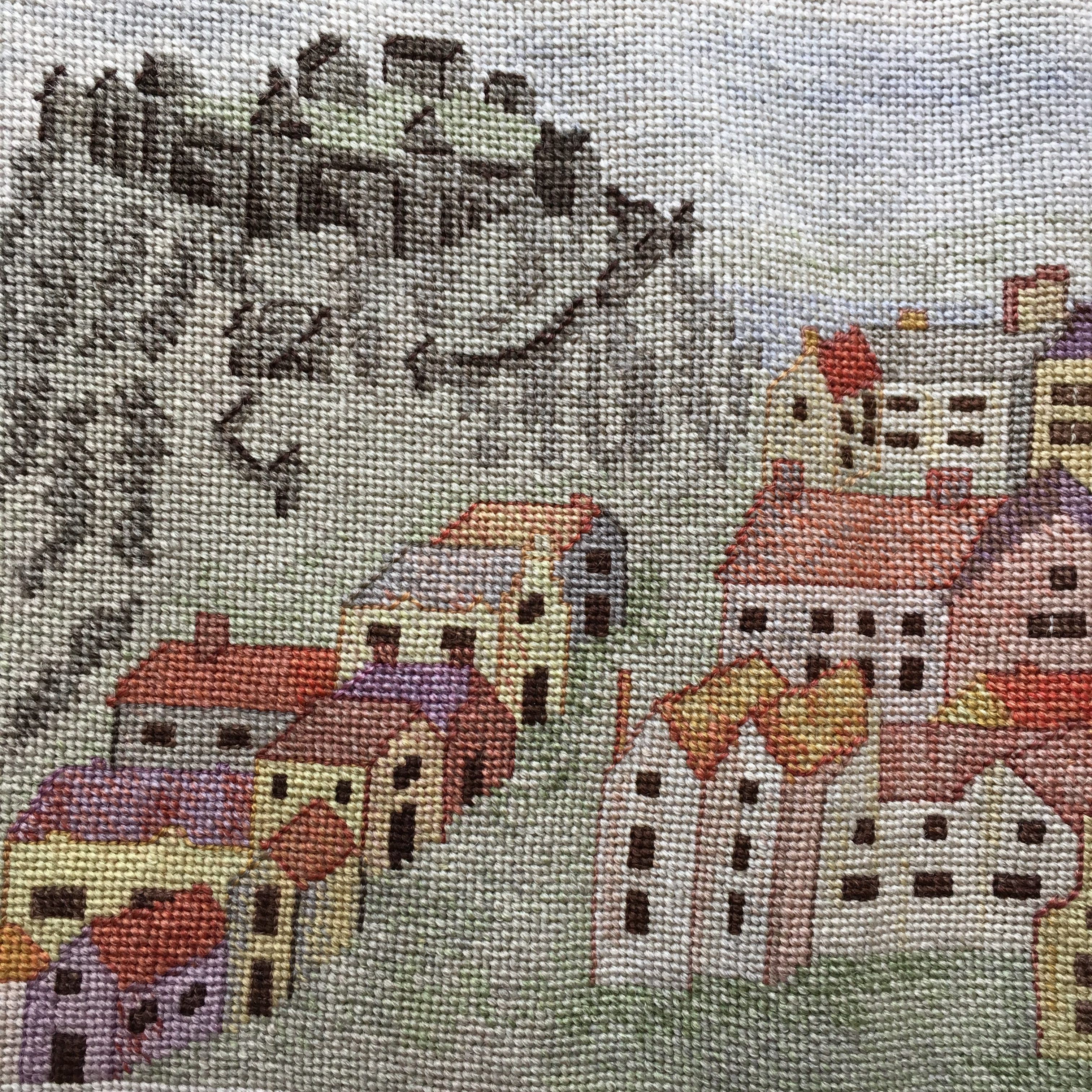 Tapestry of Edinburgh Castle and the Old Town in the Museum of Edinburgh