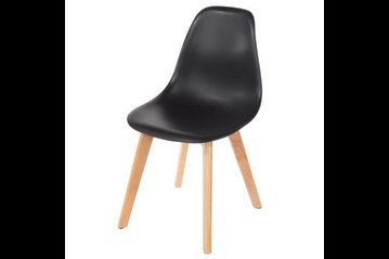 Aspen Wooden Legs Chair Black