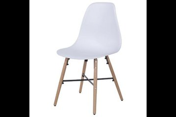 Aspen Metal Cross Chair White