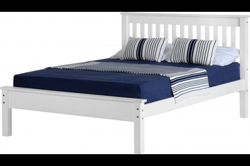 Monaco White Low Foot End Double Bed