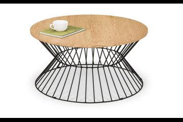 Jersey Round Wire Coffee Table - Oak