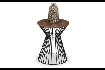 Jersey Round Wire Lamp Table - Walnut