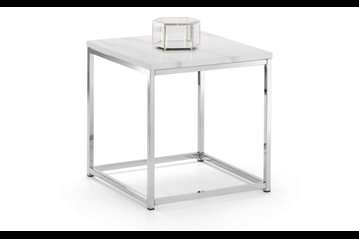 Scala White Marble Lamp Table