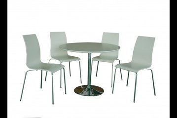 Soho Matt White Dining Set
