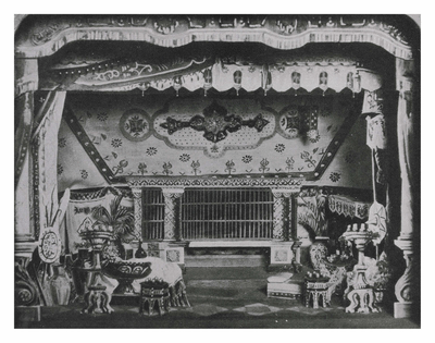 "The set of the ""Lion's Bride"""