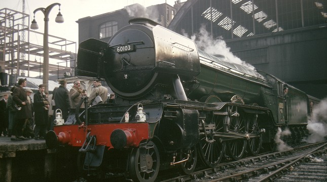 Flying Scotsman at King's Cross, 1963. Photo Credit: North Yorkshire Moors Railway