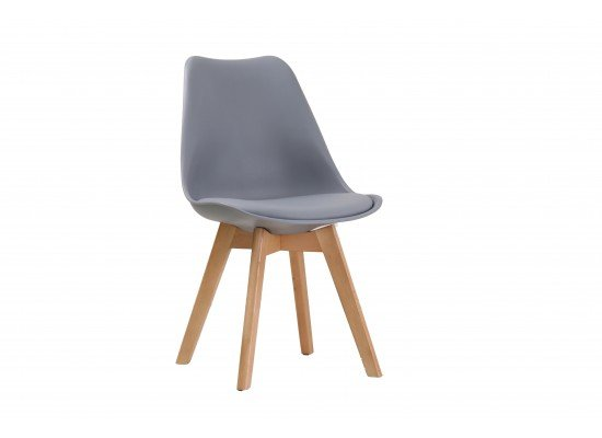 Black Louvre Padded Chair
