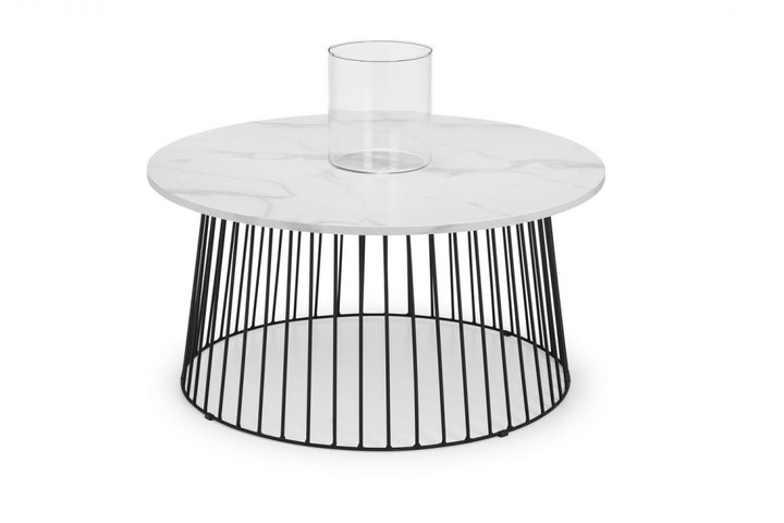 Broadway Round Coffee Table - White Marble