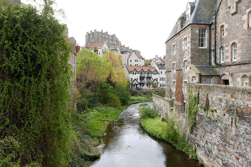 The charming Dean Village in Stockbridge.