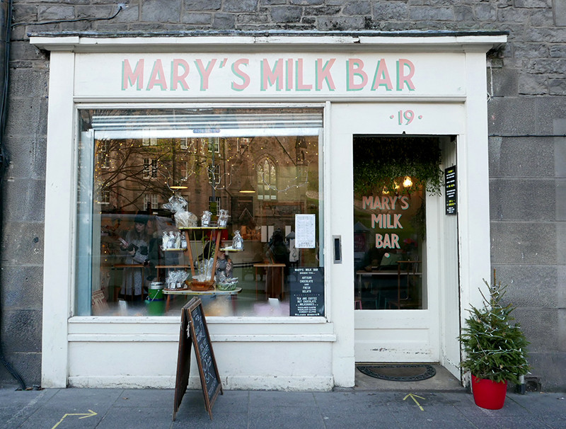marys milk bar edinburgh shop