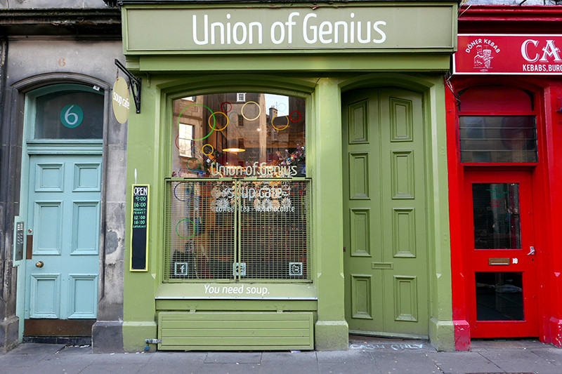 union of genius shop front edinburgh
