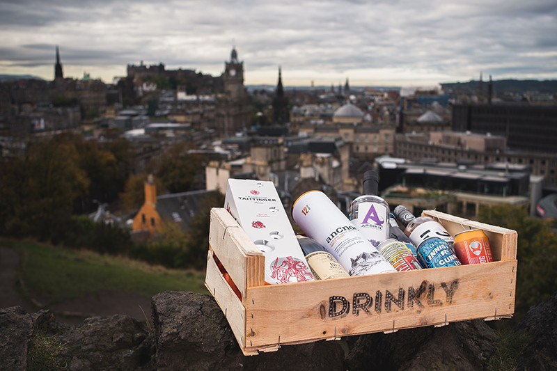 Drinkly Crate Edinburgh Backdrop